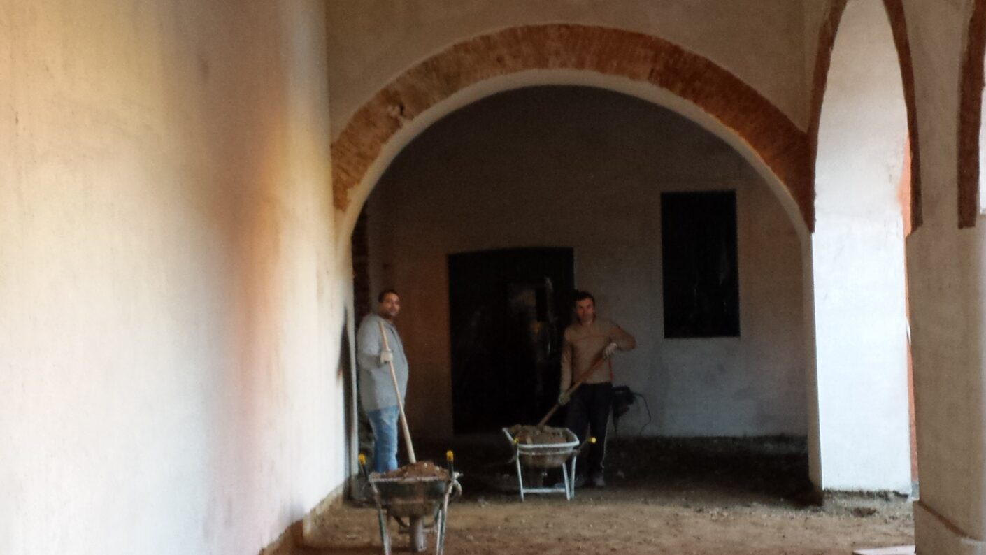 I lavori di restauro del Museo Fisogni -