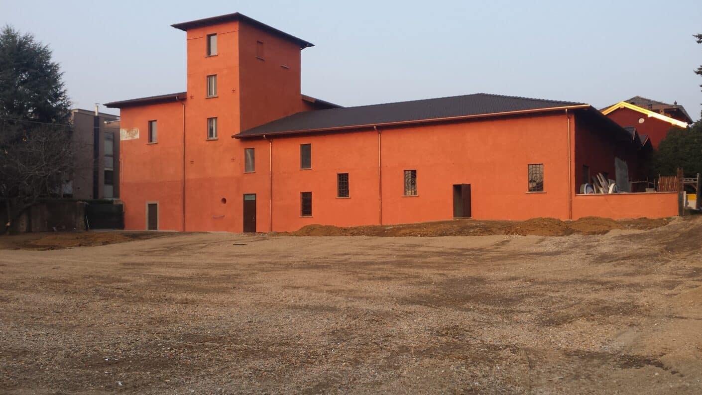 Museo Fisogni parcheggio e facciata, completamente restaurato