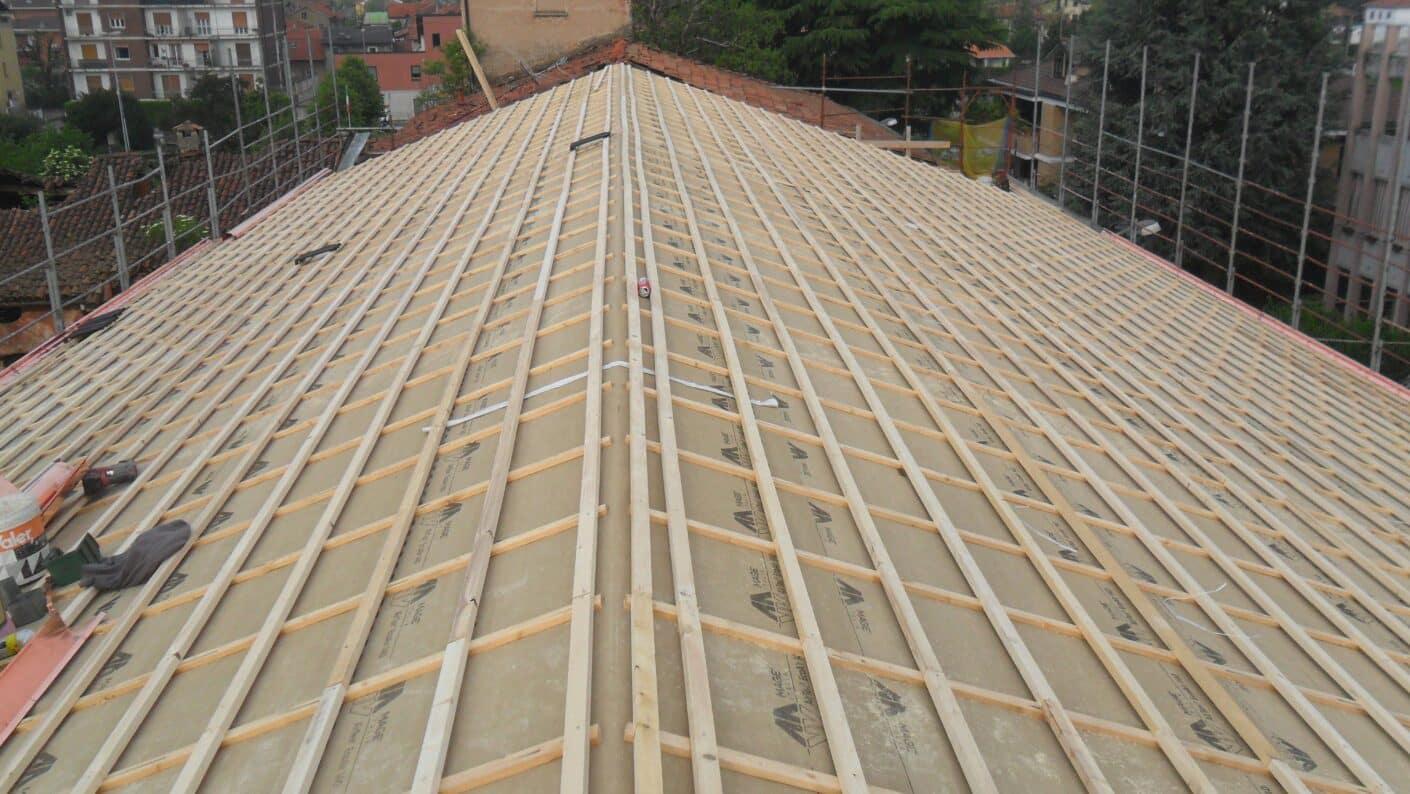 I lavori di restauro del Museo Fisogni - Nuova struttura tetto