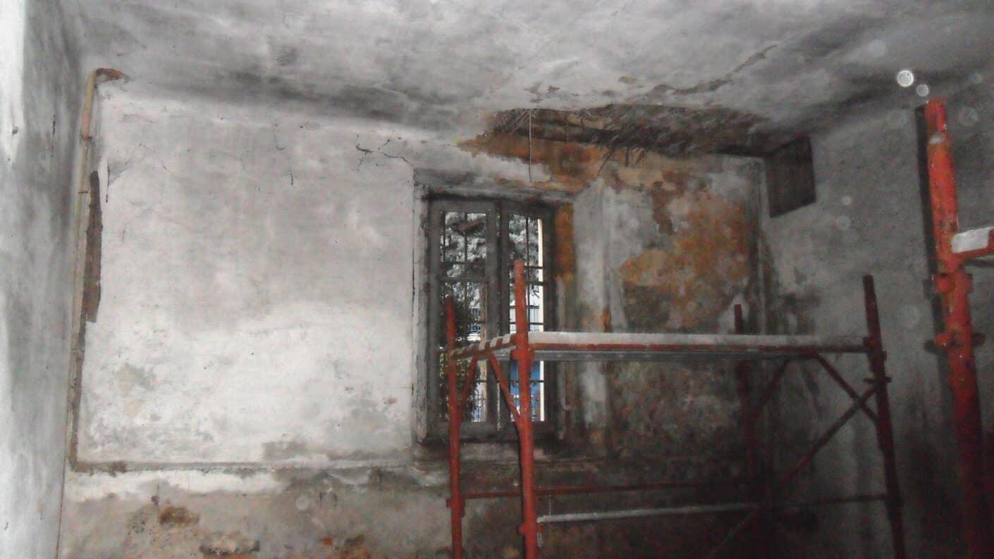 I lavori di restauro del Museo Fisogni - Interni pre restauro