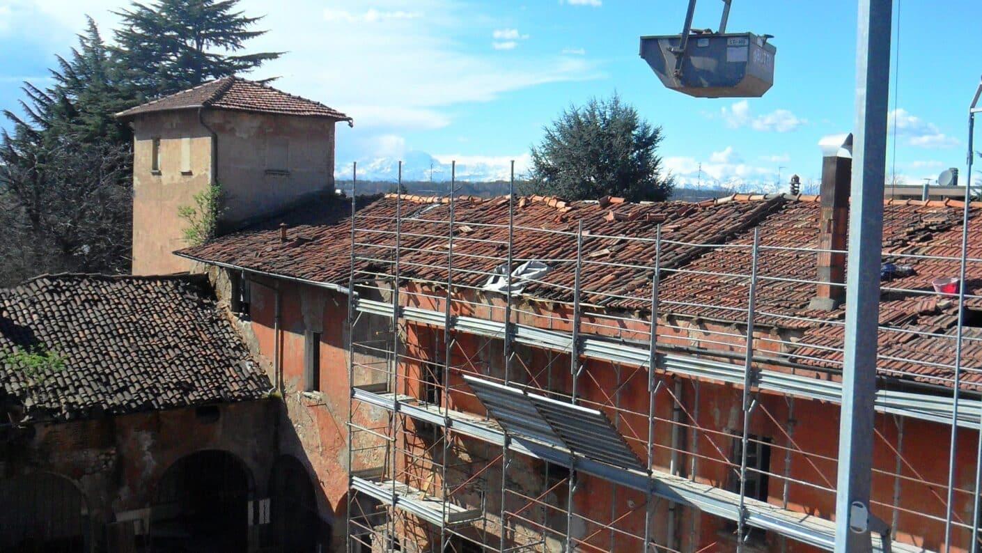 I lavori di restauro del Museo Fisogni - Restauro in corso