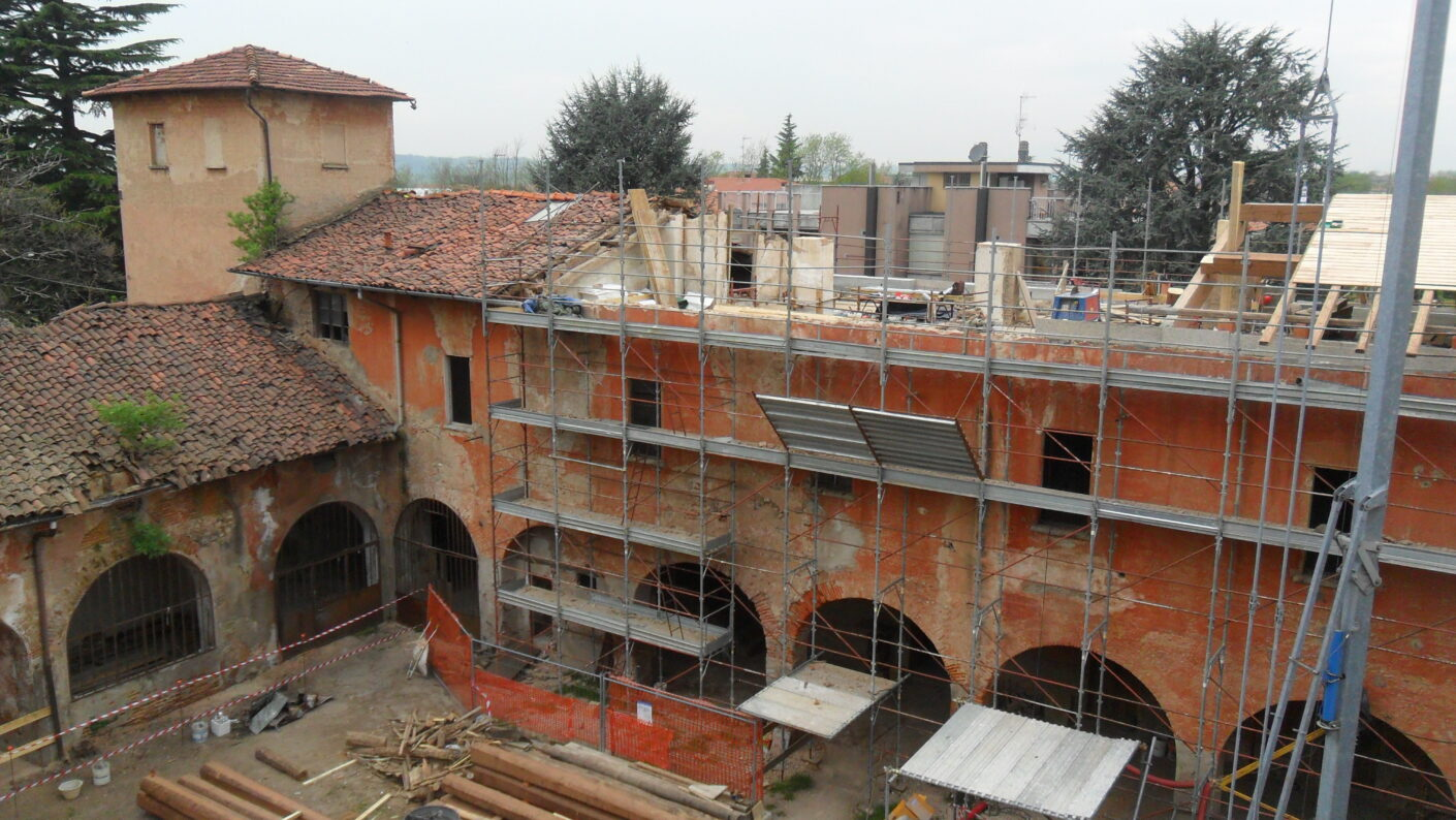 I lavori di restauro del Museo Fisogni - Impalcature Museo